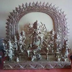 Dokra Durga Craft, For Worship, Size: 18 Inch