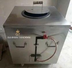 S Steel Gas And Charcoal Tandoor
