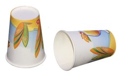 White Printed Paper Glass- Enjoy, Size: 300ML