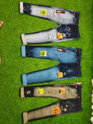 Casual Wear Zipper Denim fancy jeans