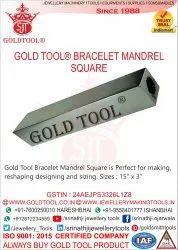 Gold Tool Bracelet Mandrel Square