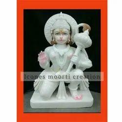 Temple Marble Hanuman Statues