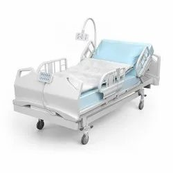 Electric White Hospital Bed, Size: 6x3 Feet (lxw), Mild Steel