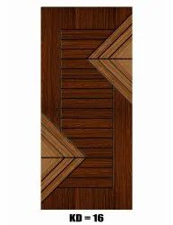 Hard Wood Hinged Modern Groove Decorative Door, For Home