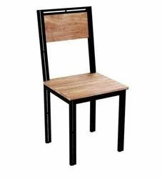 Indesign Furniture Brown Modern Wooden Metal Chair, For Cafe