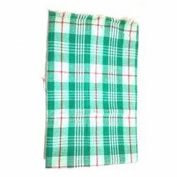 Check Simple Green Cotton Towel, Rectangle