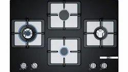 Bosch Built In Gas Hob Glass Top 4 Burner Black Ppi7s6f20i, For Kitchen, Size: 60