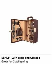 BAR SETS WITH TOOLS AND GLASSES
