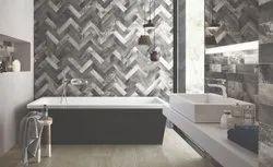 Matt Bathroom Wall Tiles, Thickness: 9 mm