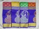 Grand Wedding Faux Silk Sarees, 6 M (with Blouse Piece)