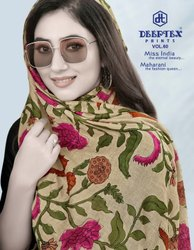 Cotton A-Line Deeptex Miss India Vol 60, Dry clean