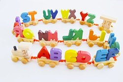 Educational Wooden Toys For Kids/ Child/toddler Letters Train Set 26 Letters