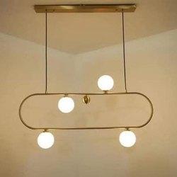 Fluorescent Bulb Fancy Iron Hanging Chandelier
