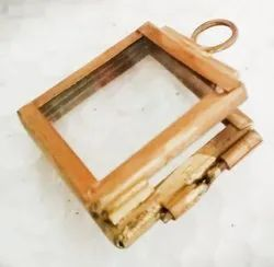 glass Golden Small Picture Frames, For Gift, Size: 3*3 Cm & 5*5 Cm