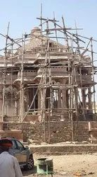 Red Sandstone Temple Construction Services