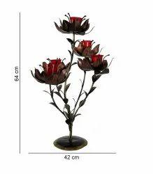 Nirmala Handicrafts Iron Flower T-Light Candle Stand