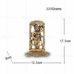 Gold Plated Srinath Ji Cutting Work Small