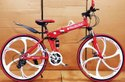 Red Mercedes Benz  6s Foldable Cycle
