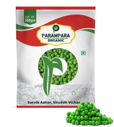 A Grade Indian Green Peas (Green Mutter), Pouch, Packaging Size: 500g