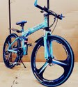 Blue Mercedes Benz 3s Foldable Cycle