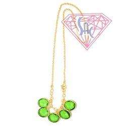 Peridot Quartz Gemstone Necklace