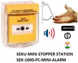 Sekurit High Strength Abs Seku Mini Stopper Station With Alarm, Model Name/number: SEK-1000-PC-Mini-Alarm