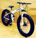 White Hummer Fat Foldable Cycle