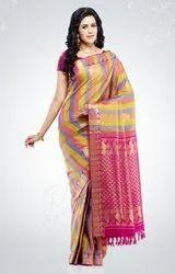 Handloom Pure Silk Saree All Self Butta