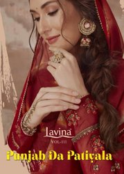 Lavin Vol 11 Pajab Da Patiyala Crep Print With Embroidery Work Suits Catalog