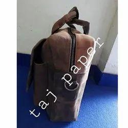 Vintage Brown Handmade Leather Laptop Cum Office Messenger Bag, Size: 23 X12 X 9 Inch