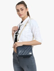Yelloe Hand Crafted Blue Sling Bag