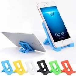 Plastic Mount Type Foldable Mobile Holder Stand - Adjustable 4 Steps Foldable, Size: Small, Model Name/Number: PCSMH2DFS