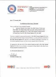 Kenafric Industries, Kenya for 4 TPH Steam Boiler