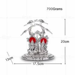 Silver Plated Laxmi Ganesh Tree