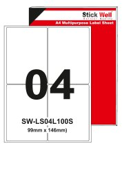A4 Labels Sheet SW-LS04L