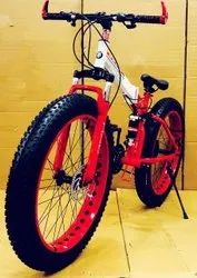 BMW Red Fat Tyre Foldable Cycle