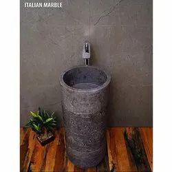 Italian Marble Round Stone Basin