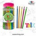 Multicolor Polymer Spartex Trix Rubber Tip Pencil, Packaging Size: Jar Of 100pcs