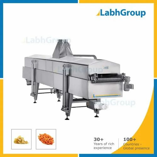 Gas & Diesel Continuous Fryer For Frying Snacks Food