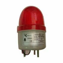 50Hz Red Mini Warning Blinking Buzzer Light