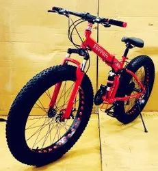 Ferrari Red Fat Tyre Foldable Cycle