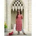 Cotton Casual Wear Ladies Designer Printed Suit, Machine Wash
