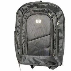 Black Synthetic 25 L Zipper Laptop Backpack
