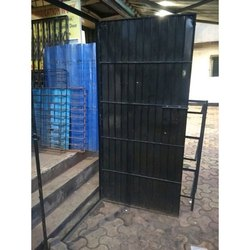 Black Mild Steel Safety Door, For Residential