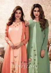 Arihant Vamika Upstylish Vol-2 Maslin Silk Fabric Party Wear Kurti Catalog