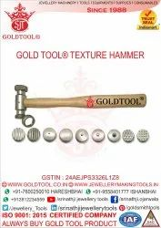 Gold Tool Jewellery Texturing Hammer With 9 Different Tips