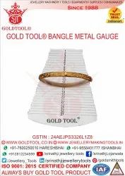 Gold Tool Bangle Metal Gauge