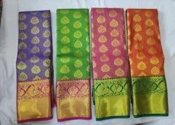 Kanchipuram Silk Fancy Sarees, 6.3 m (with blouse piece)
