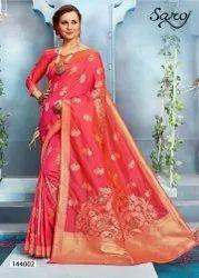 Party Wear Lichi Silk Saree