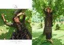 Kaara Suits Saffron Pashmina Print And Embroidery Work Salwar Kameez Catalog